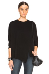 Inhabit Cashmere Poncho Pullover Sweater In Black