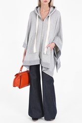 Adam By Adam Lippes Women S Hooded Jersey Cape Boutique1 Grey