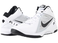 Nike The Air Overplay Ix White Pure Platinum Black Men's Basketball Shoes