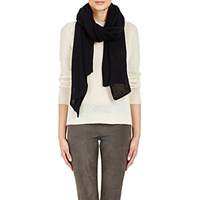 Barneys New York Women's Open Knit Stole Black Blue Black Blue