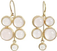 Judy Geib Pink Moonstone Quadruple Drop Earrings Colorless