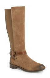 Women's Bussola 'Selby 50 50' Tall Stretch Boot Taupe Suede