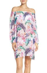 Tommy Bahama Women's 'Orchid Canopy' Off The Shoulder Cover Up Tunic