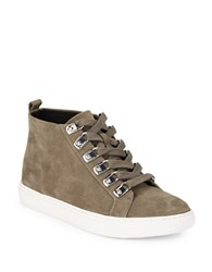Kenneth Cole Kale Nubuck Leather Hi Top Sneakers Cement