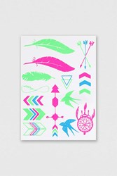 Topshop Neon Arrow Tattoo Pack Multi