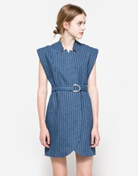 C Meo Collective Stay Cool Pinstripe Dress Denim