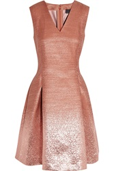 Fendi Ombre Effect Metallic Dress
