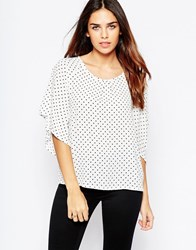 Wal G Top In Spot Print White