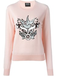 Markus Lupfer Sequin Embellished Sweater Pink And Purple