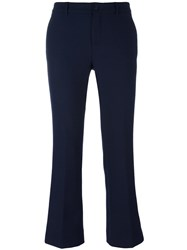 Pt01 'Jaine' Flared Trousers Blue