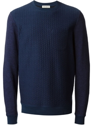 Oliver Spencer Quilted Sweatshirt Blue