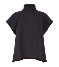 See By Chloe High Neck Boxy Top Female Grey