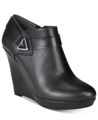 Bar Iii Tiger Wedge Dress Booties Only At Macy's Women's Shoes Black