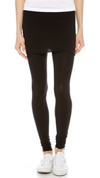 Splendid Fold Over Leggings Black