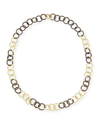 Armenta Midnight And Yellow Gold Diamond Link Necklace