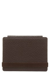 Reiss Chet Business Card Holder Brown