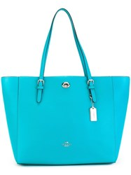 Coach 'Turnlock' Tote Bag Blue