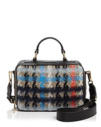 Milly Small Pied Poule Tweed Satchel Multi