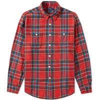 Polo Ralph Lauren Plaid Flannel Overshirt Red