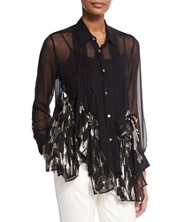 Creatures Of The Wind Rose Knotted Sheer Blouse
