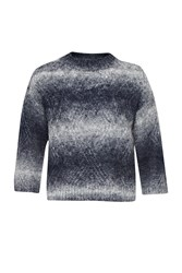 Great Plains Angela Knits Zigzag Stitch Top Navy