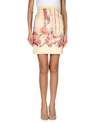 Vicedomini Knee Length Skirts Beige