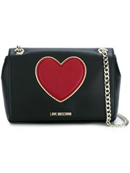 Love Moschino Heart Crossbody Bag Black