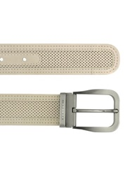 Moreschi Men's Beige Perforated Leather Belt