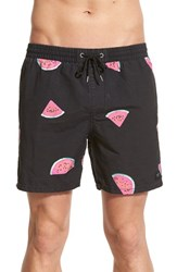 Men's Globe 'Slice' Watermelon Print Swim Trunks