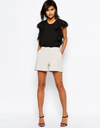 Asos Tailored A Line Shorts Stone