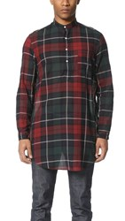 Gitman Brothers Vintage Redcheck Japanese Voile Long Shirt