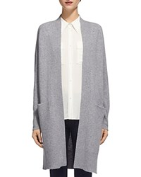 Whistles Boiled Wool Cardigan Gray
