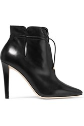 Jimmy Choo Murphy Cutout Leather Ankle Boots Black