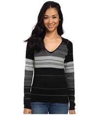 Smartwool Sulawesi Stripe Pullover Black Women's Sweater