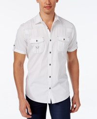 Inc International Concepts Men's Adenine Short Sleeve Shirt Only At Macy's White Pure