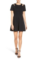 1.State Women's Shoulder Cutout Fit And Flare Dress