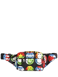 Moschino Smiley Face Printed Nylon Belt Pack Multi