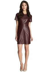 Women's 1.State Faux Leather And Ponte Shift Dress
