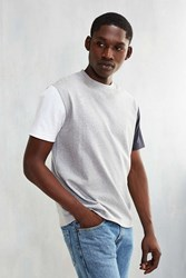 Cpo Boxy Mock Blocked Sleeve Tee Grey