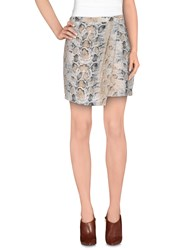 Suncoo Skirts Mini Skirts Women Light Grey