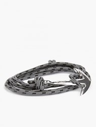 Miansai Grey Silver Plated Anchor Bracelet