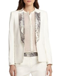 The Kooples Kate Python Print Blazer Ecru