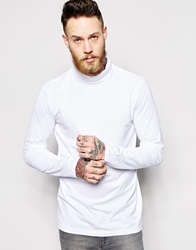 Weekday Long Sleeve Top Turtle Neck White