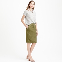 J.Crew Petite Linen Cargo Pencil Skirt