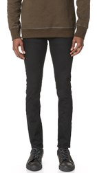 3X1 M5 Channel Seam Skinny Jeans Indy Black 3D