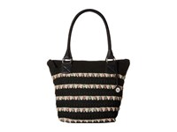 The Sak Cambria Large Tote Black Ribbon Shoulder Handbags