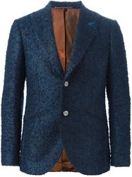 Maurizio Miri Boucle Two Button Blazer Blue
