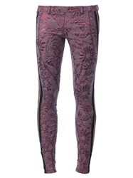 Faith Connexion Cloque Skinny Trousers Pink And Purple