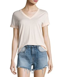 Alexander Wang Superfine Jersey V Neck Tee Flesh