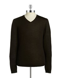 Strellson Wool V Neck Sweater Black